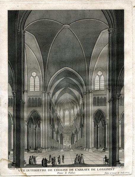 Vue intérieure de l'église de l'abbaye de Longpont