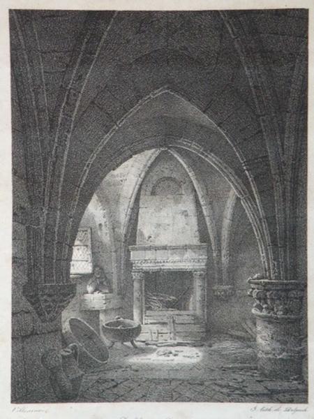 Salle souterraine, Prieuré de Pierre-fonts_0