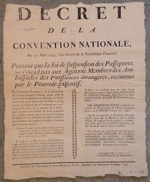Décret de la Convention Nationale du 31 mars 1793_0