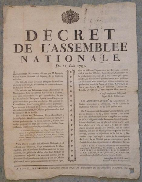 Décret de la Convention Nationale du 23 juin 1791_0