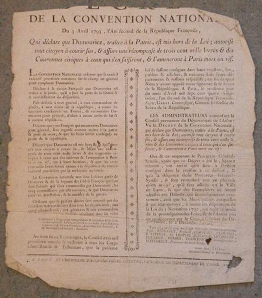 Décret de la Convention Nationale du 3 avril 1793_0