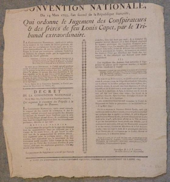 Décret de la Convention Nationale du 14 mars 1793_0