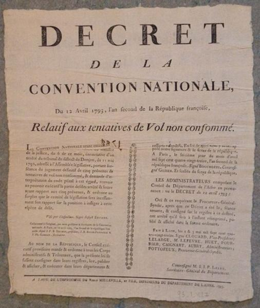 Décret de la Convention Nationale du 12 avril 1793_0
