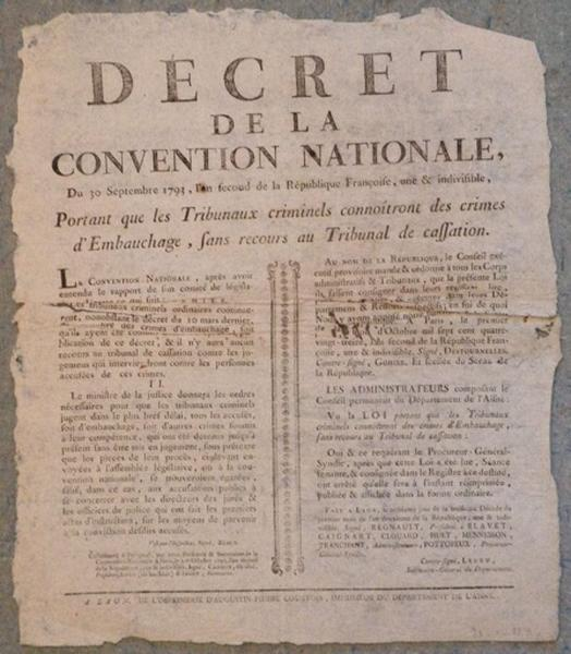 Décret de la Convention Nationale du 30 septembre 1793_0