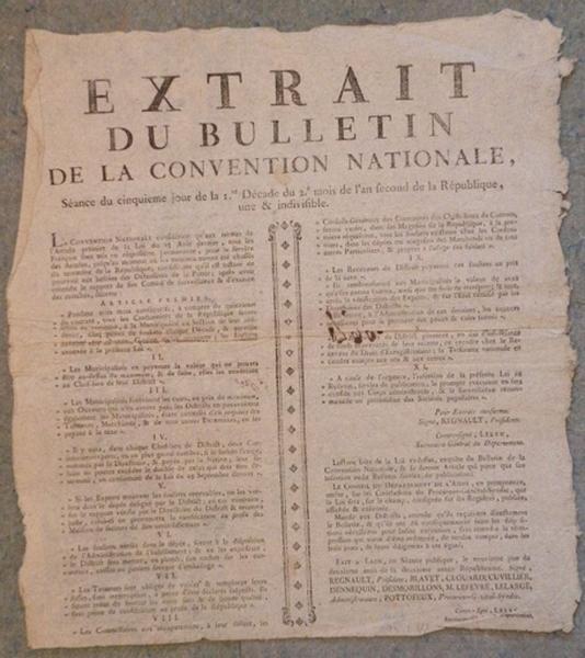 Extrait du Bulletin de la Convention Nationale_0