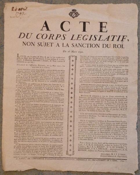 Acte du corps législatif_0