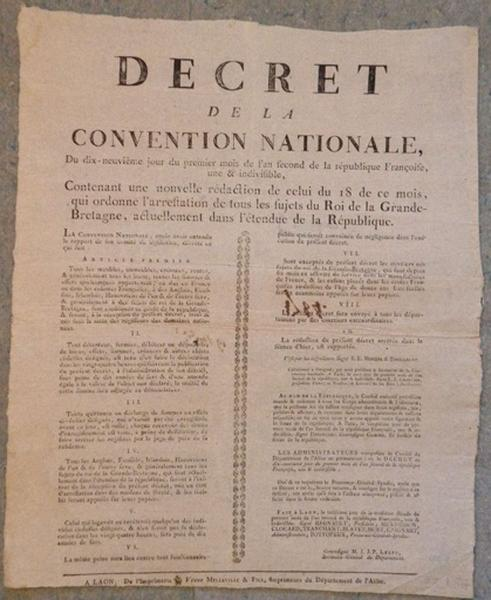 Décret de la Convention Nationale
