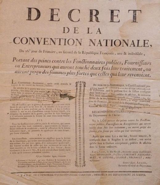 Décret de la Convention Nationale portant des peines contre les fonctionnaires publics_0