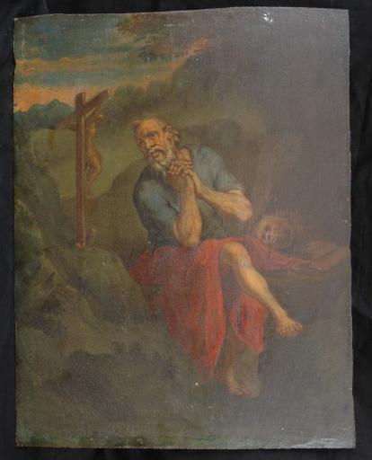 Saint Jérôme ? priant dans le désert_0