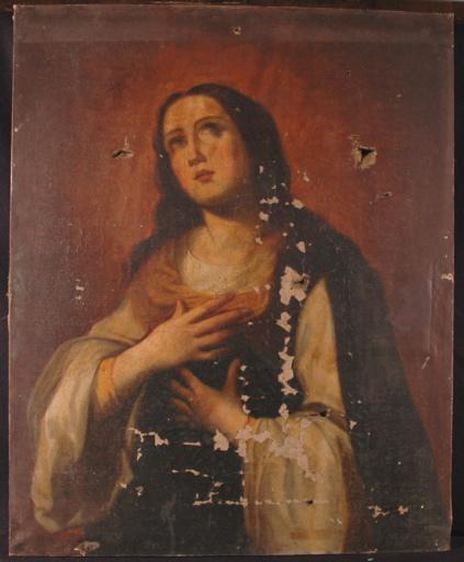 Portrait d'une sainte priant_0