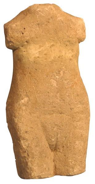 Ex-voto du temple de la forêt d'Halatte, corps de femme