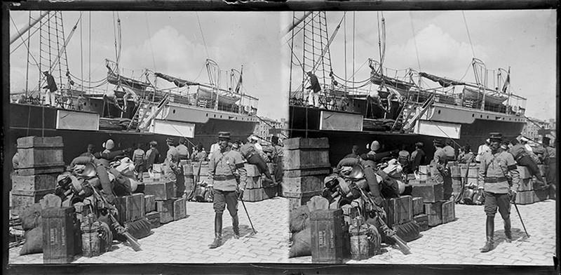 BOUZANQUET Gaston : Transport de troupes