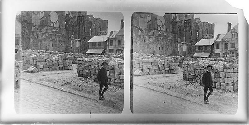 La cathédrale de Reins détruite