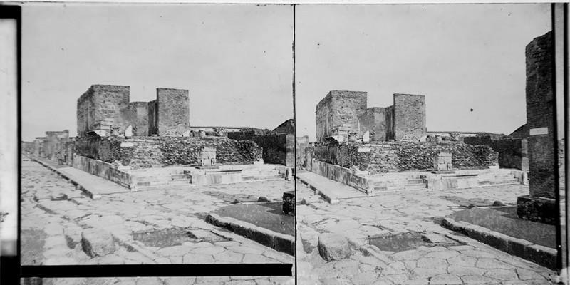 BOUZANQUET Gaston : Pompéi, temple de la Fortune