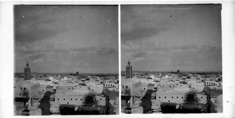 BOUZANQUET Gaston : Vue de Tunis