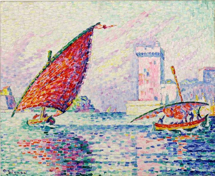 Marseille, barques de pêche ou le Fort Saint-Jean