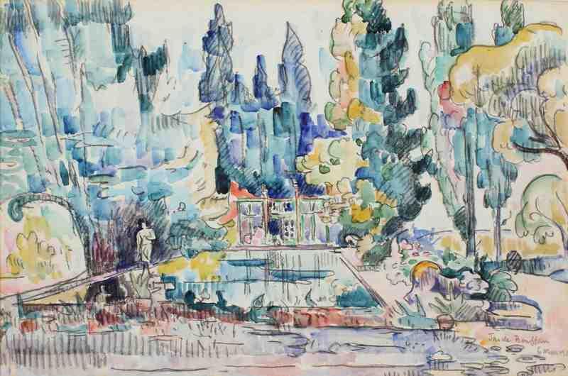 La pièce d'eau de la maison de Cézanne au Jas de Bouffan_0