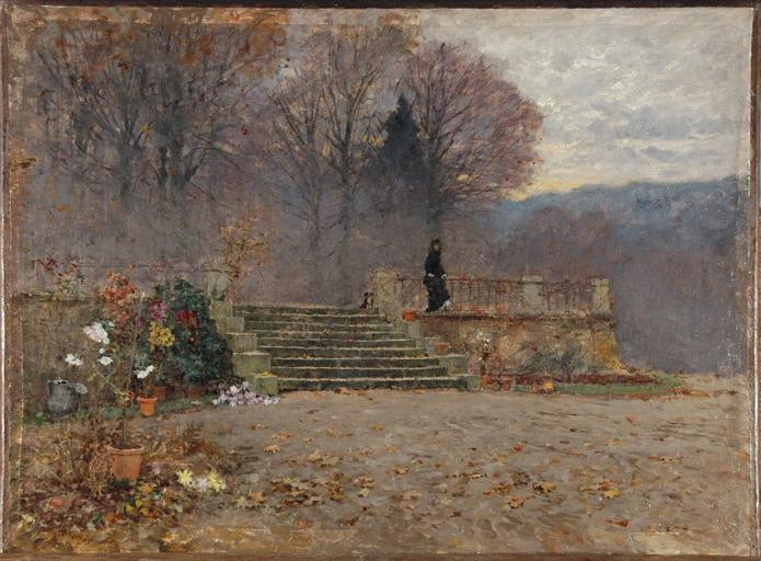 Soirée d'automne sur la terrasse (Charlieu)_0