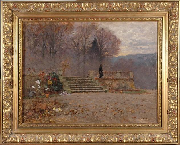 Soirée d'automne sur la terrasse (Charlieu)