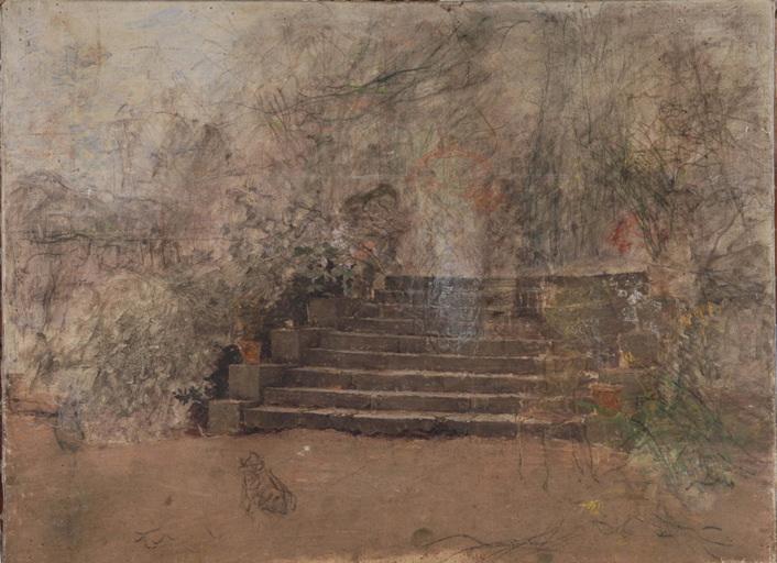 Escalier de terrasse de jardin_0