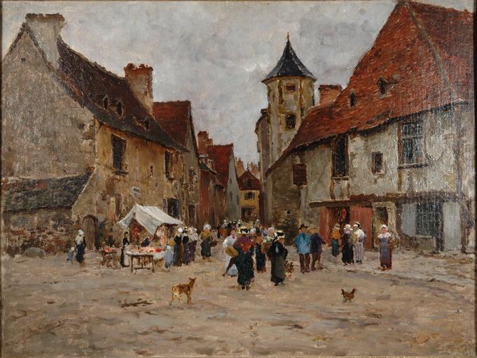 La place de la vieille ville, Montluçon