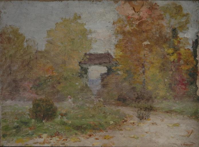 Parc de château en automne_0