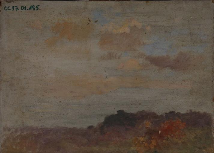 paysage d'automne (recto, verso)