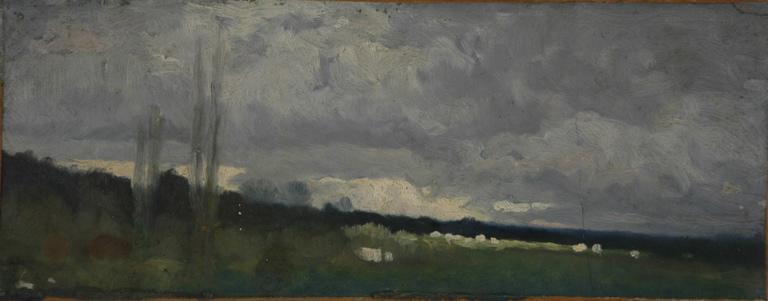 Troupeau sous un ciel sombre_0
