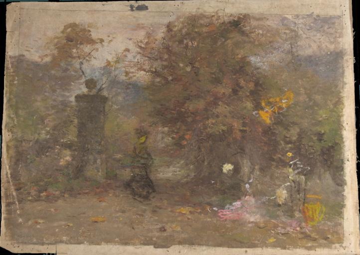 Promenade dans un jardin en automne_0