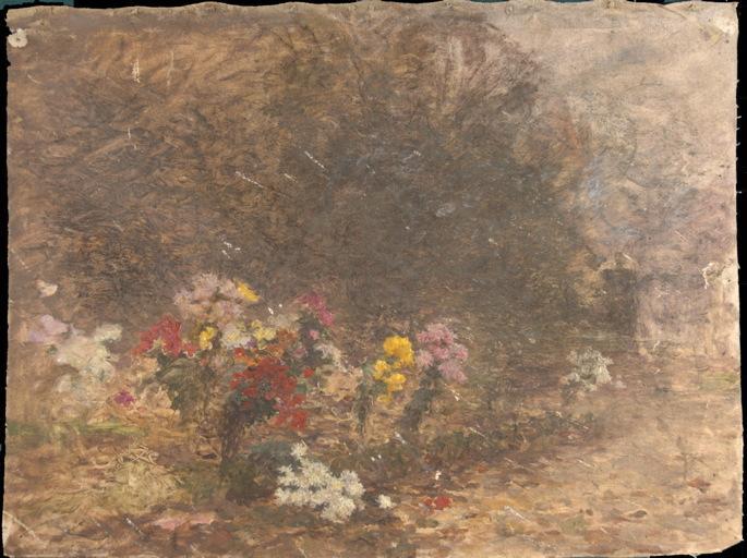 Paysage aux chrysanthèmes_0