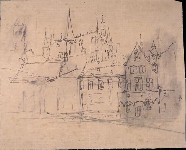 Cathédrale et maisons