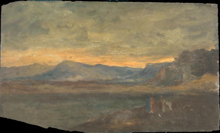 Coucher de soleil sur les montagnes_0