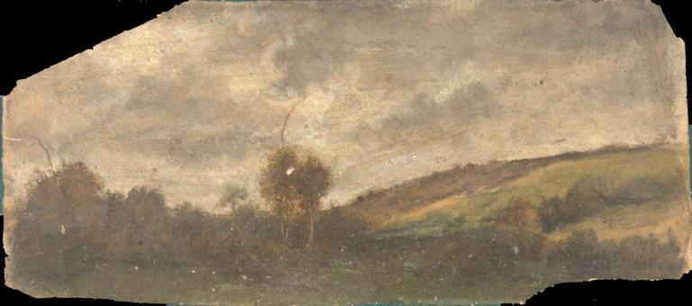 Paysage (recto) ; Caricature (verso)_0