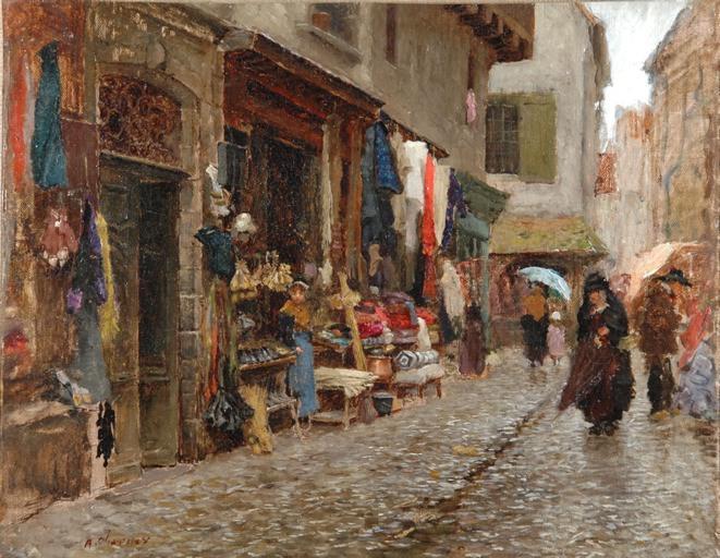 La rue Marcenague, Aurillac (brûlée)_0