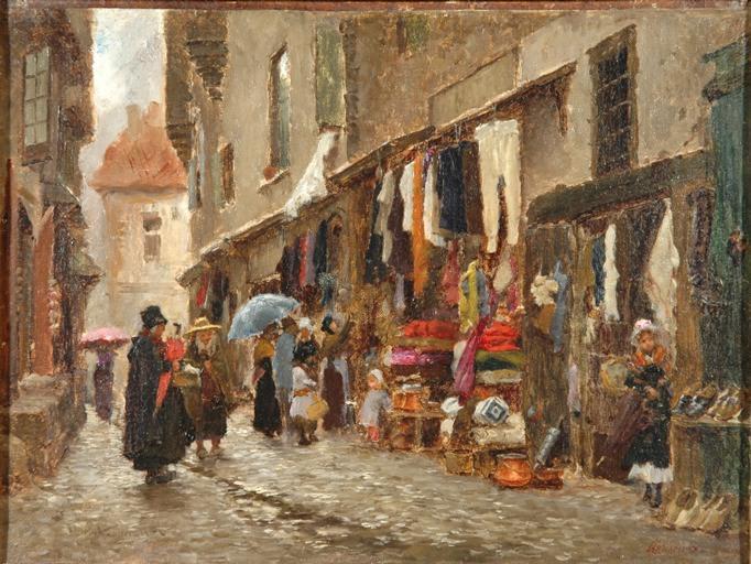 La rue Marcenague (brûlée depuis). Aurillac_0