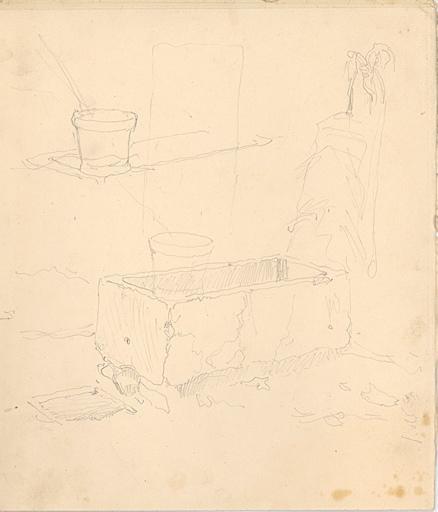 Etudes de fontaine avec seau (recto, verso)_0