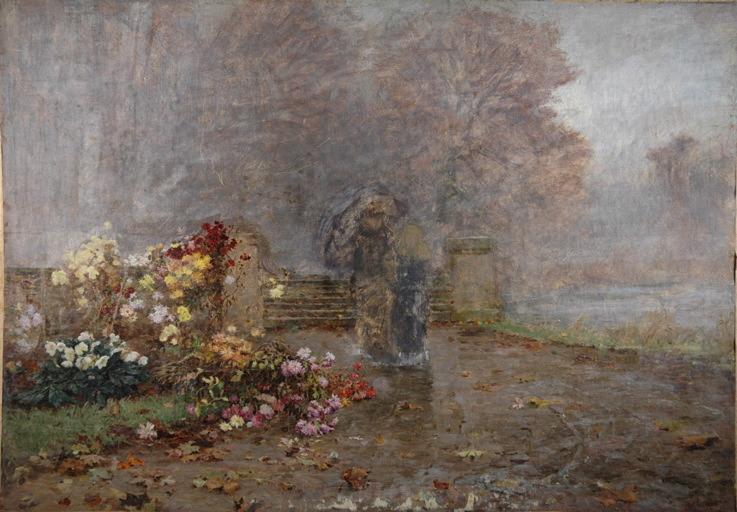 Chrysanthèmes sous la pluie_0