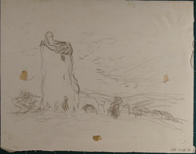 Etude de ruines (recto, verso)