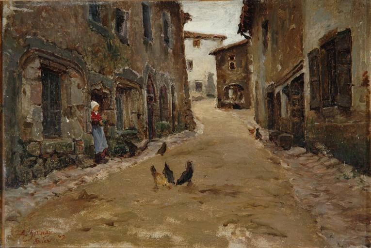 Une rue de Cervières près Noirétable - Loire. Village moyen-Age...'_0