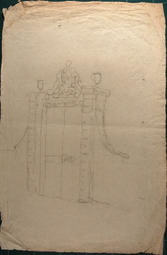 Etude portail de château (recto, verso)_0