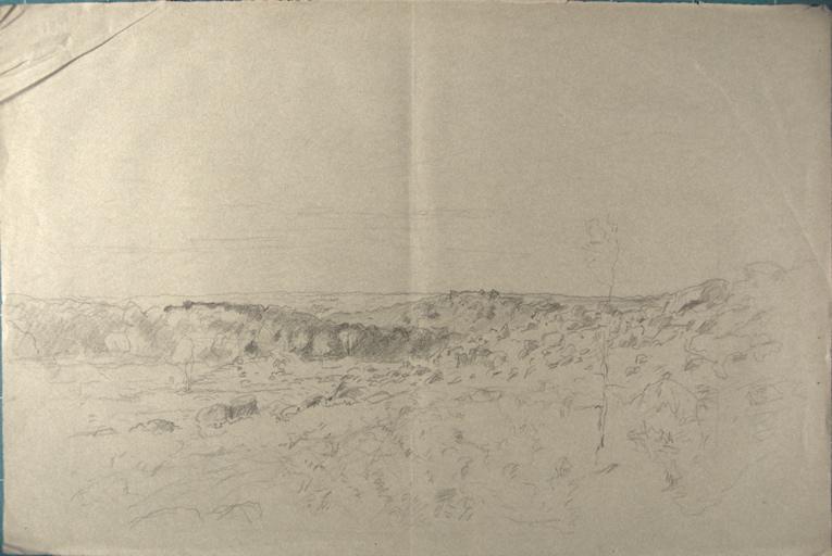 Paysage de colline et rochers_0