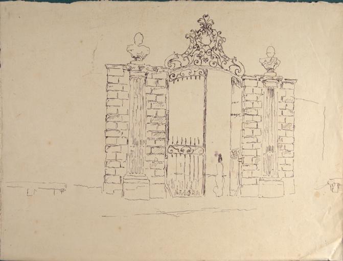 Etude du portail du château de Gatellier