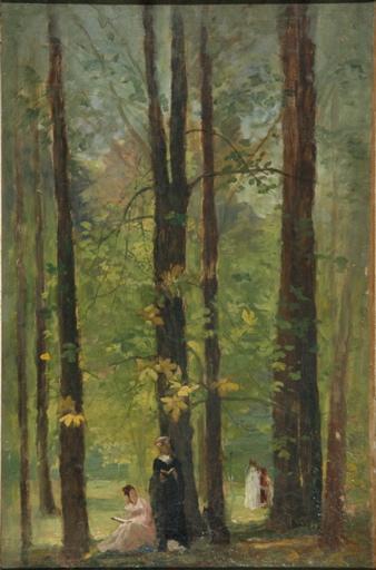 Lecture dans un bois_0