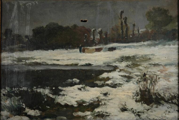 paysage avec étang
