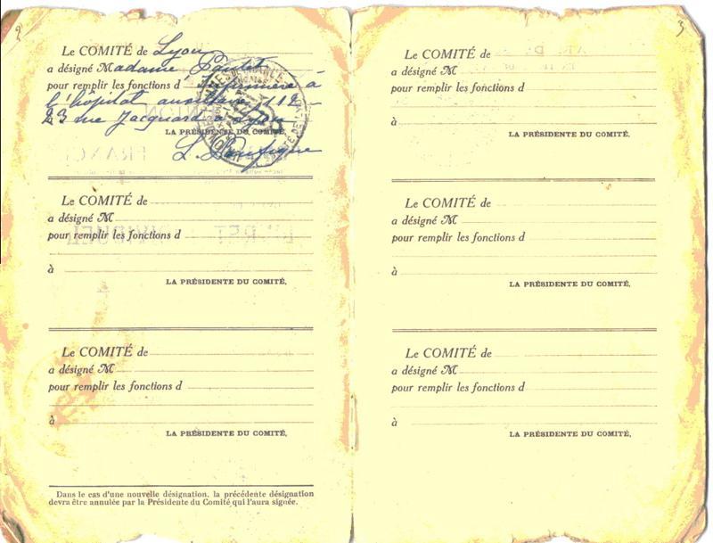 Livret individuel de l'Union des Femmes de France_0