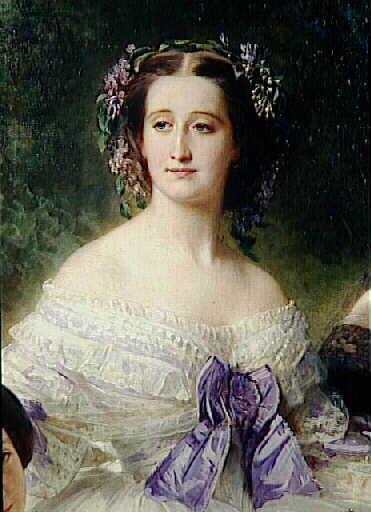 Portrait de l'Impératrice Eugénie entourée de ses dames d'honneur_0