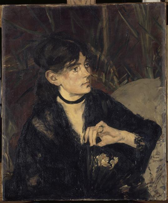 Portrait de Berthe Morisot à l'éventail_0