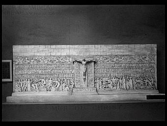 Le mur du Christ, projet de décoration murale pour un temple dedié à la grandeur de l'effort humain