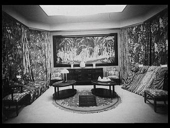 Pavillon Fontaine et Compagnie, stand de la Société alsacienne de blanc et d'impression