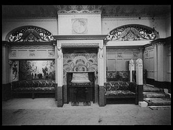 Galerie des écoles d'art de France : fond de hall dans un grand cottage